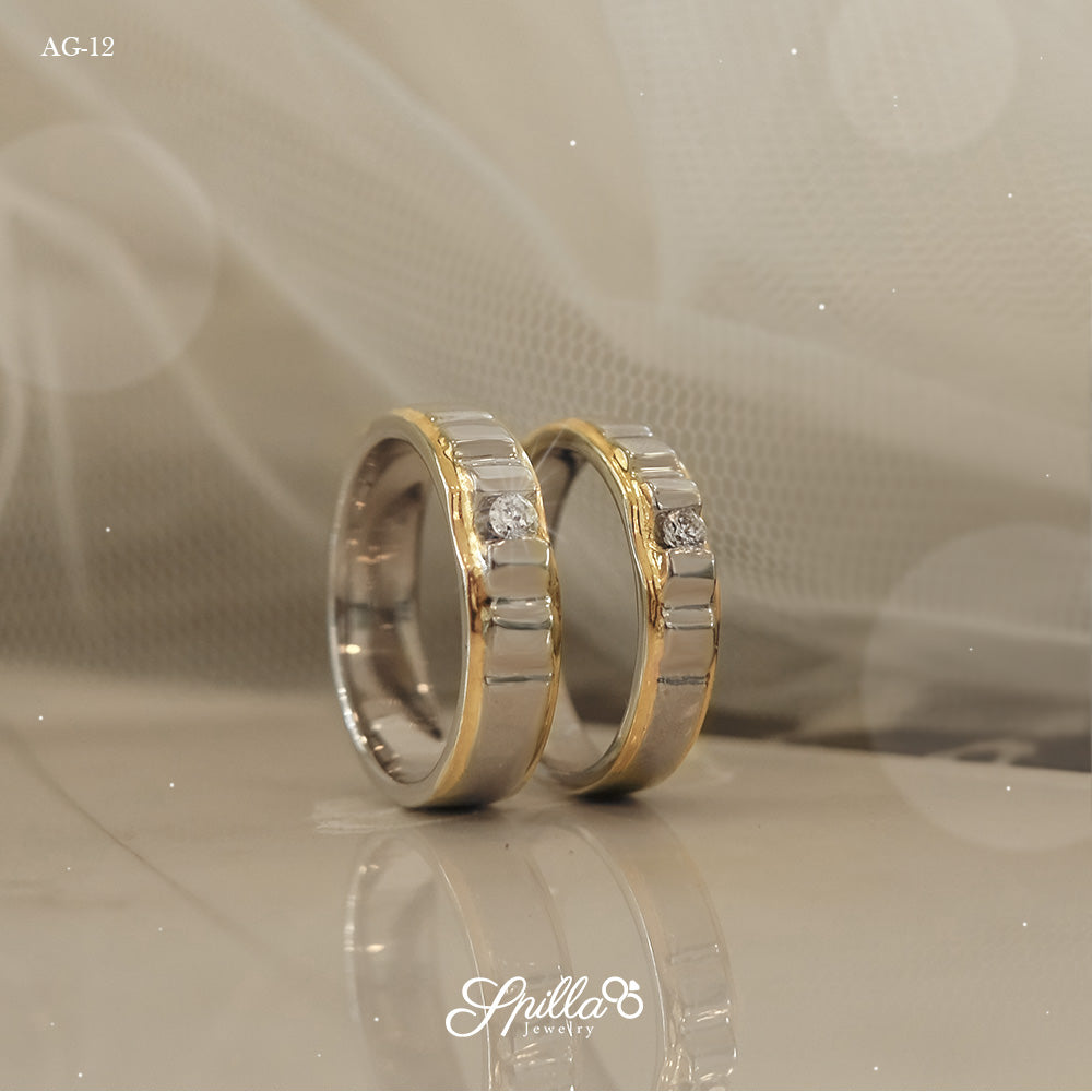 Couple Ring AG-12 [Silver]
