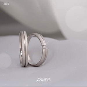 Couple Ring AG-13 [Silver]