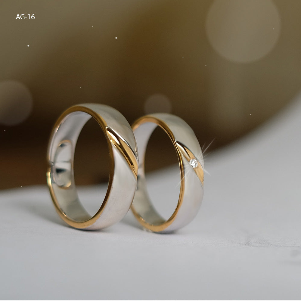 Silver Wedding Ring AG-16