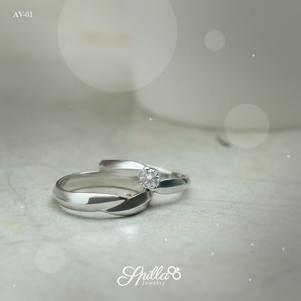 Couple Ring AV-01 Silver