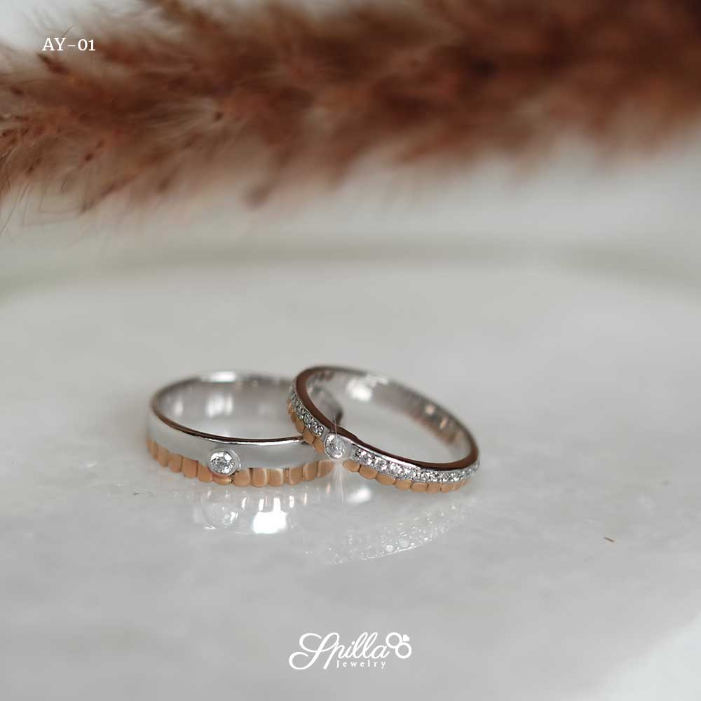 Couple Ring AY-01 [Silver]
