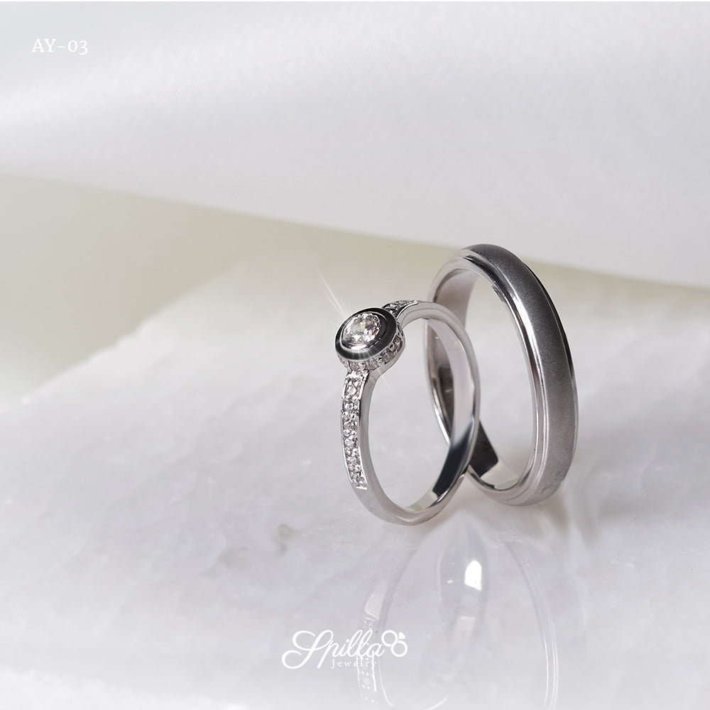 Couple Ring AY-03 [Silver]