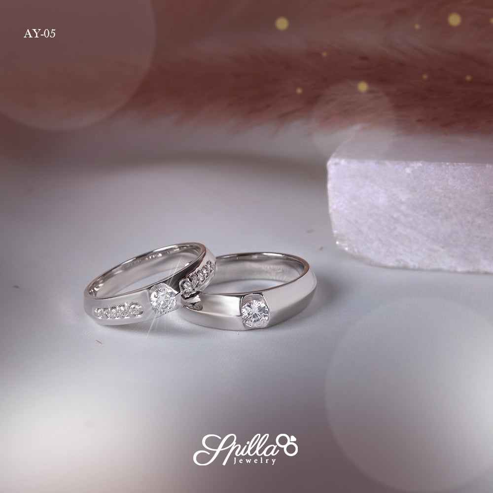 Wedding Ring AY-05 [Silver]