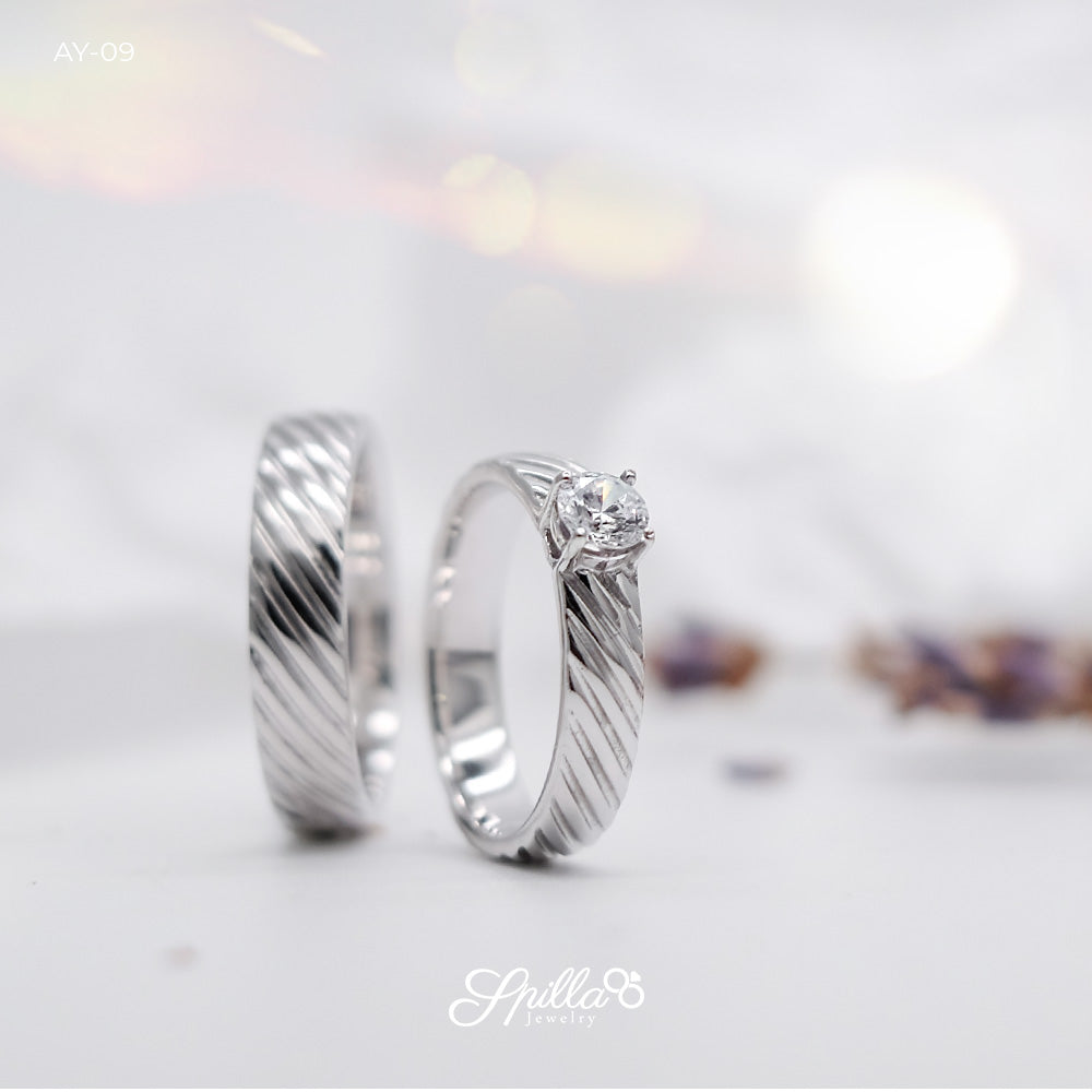 Couple Ring AY-09 [Silver]