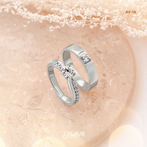 Silver Engagement Ring AY-19