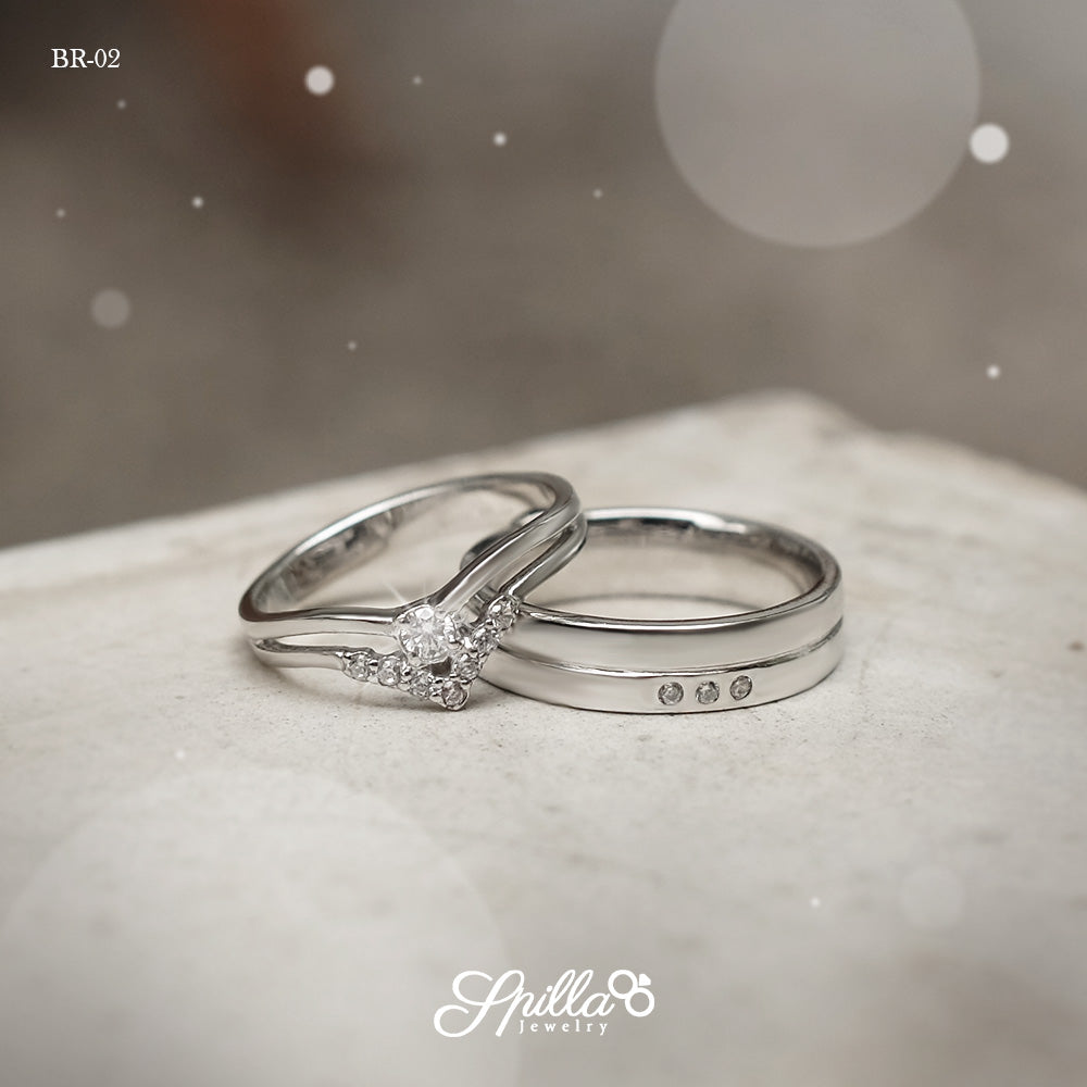 Silver Couple Ring BR-02