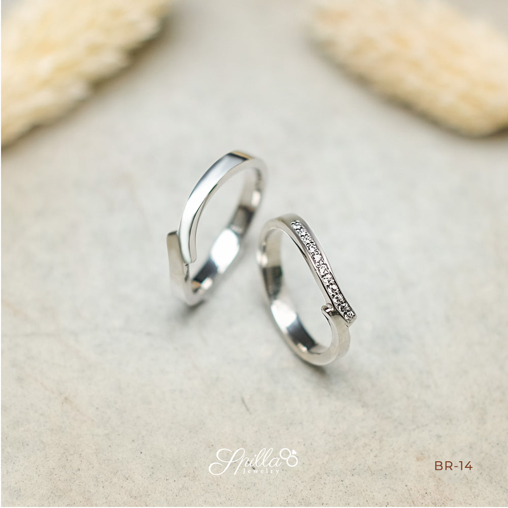 Silver Engagement Ring DY-19