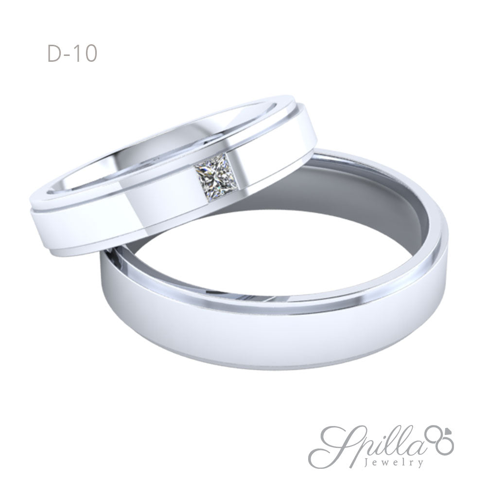 Couple Ring D-10 Silver