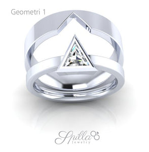 Couple Ring Geometri 01