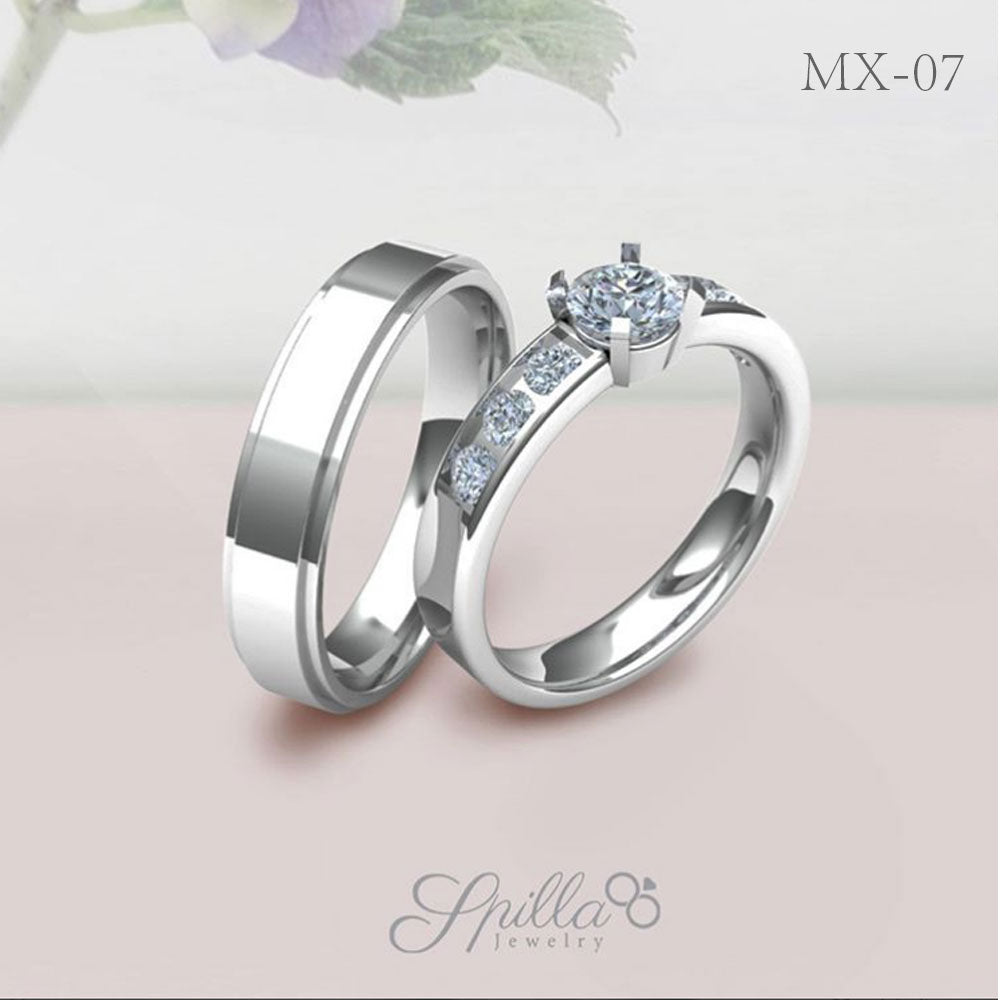 Couple Ring MX-07 Silver