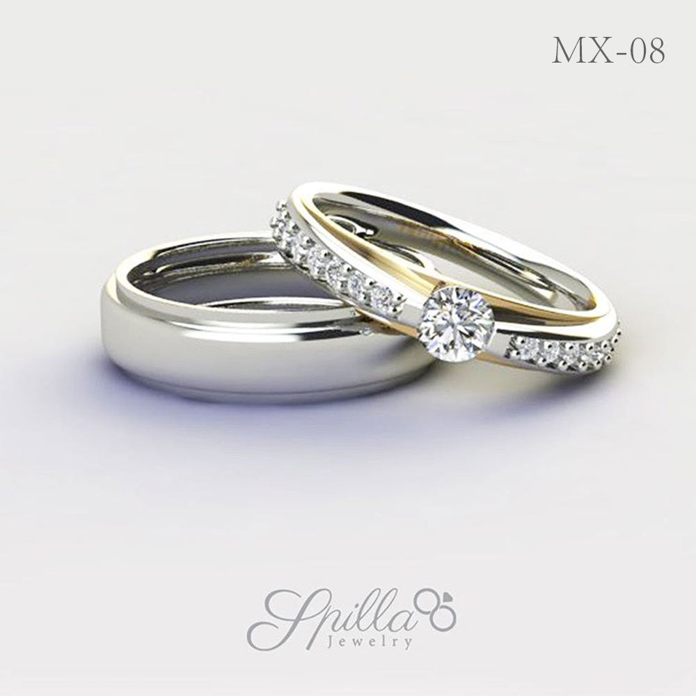 Couple Ring MX-08 Silver