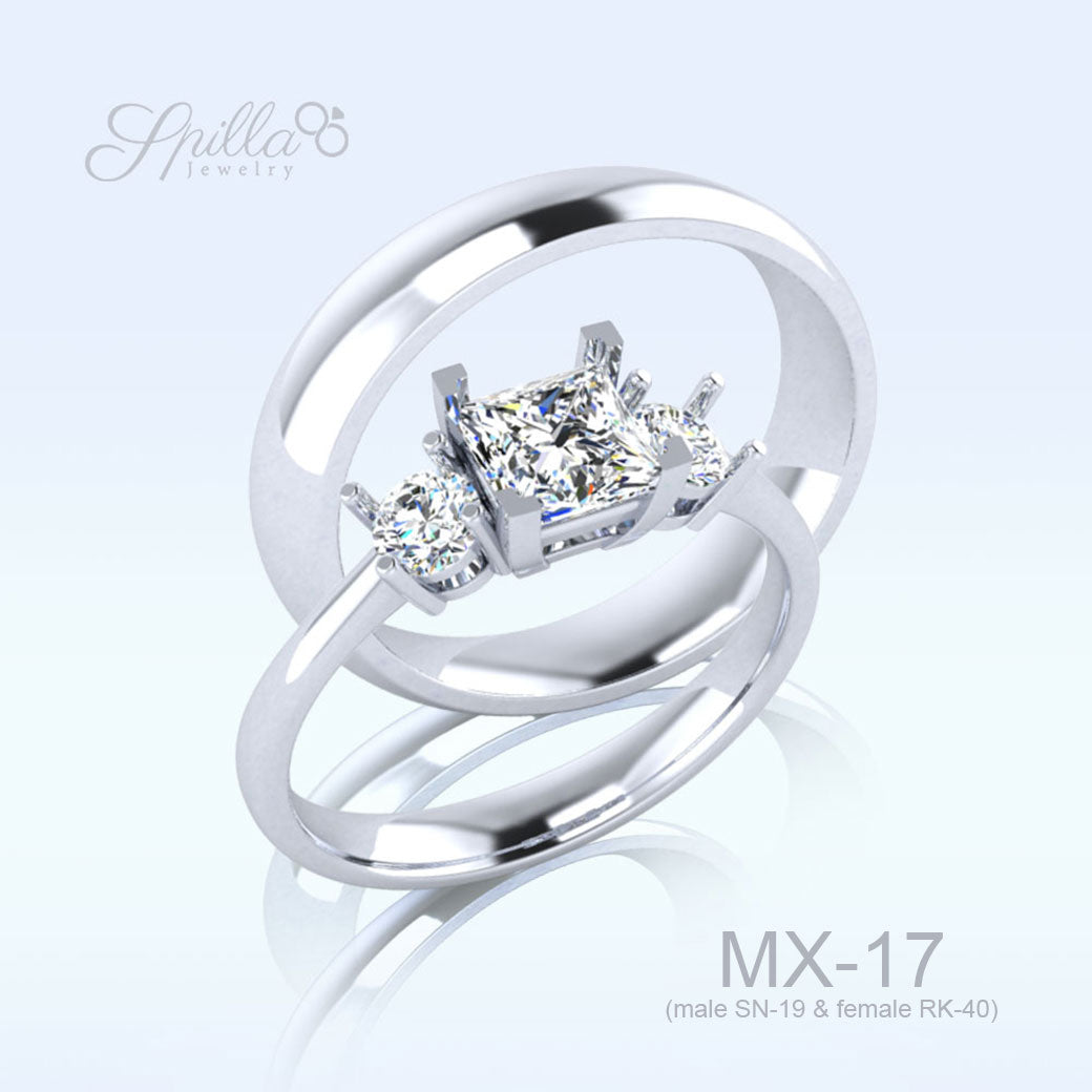 Wedding Ring MX-17 Silver