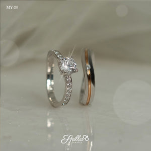 Silver Couple Ring MY-20