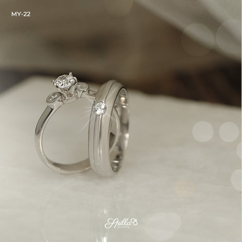 Silver Couple Ring MY-22