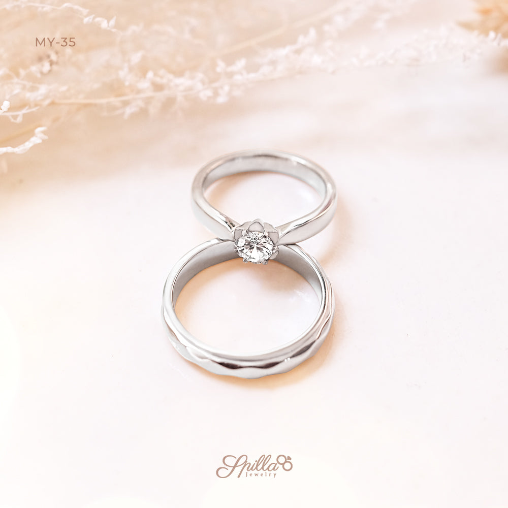 Silver Engagement Ring MY-35