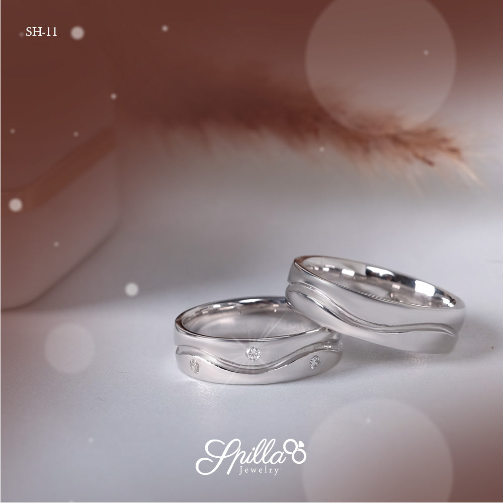 Couple Ring SH-11 [Silver]