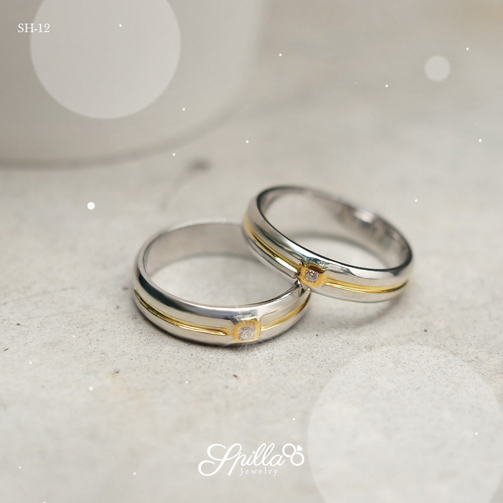 Silver Couple Ring SH-12