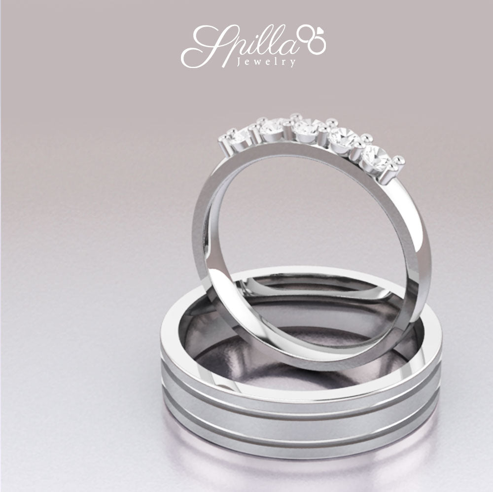 Couple Ring MX-09 Silver
