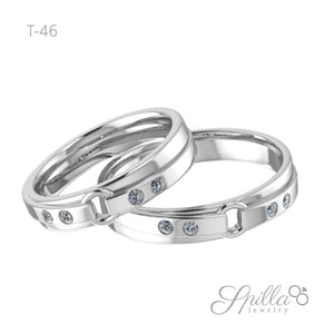 Cincin Couple T-46 Silver