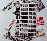 Custom Social Media Decals