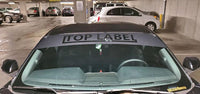 TopLabel Windshield Banner (cutout)