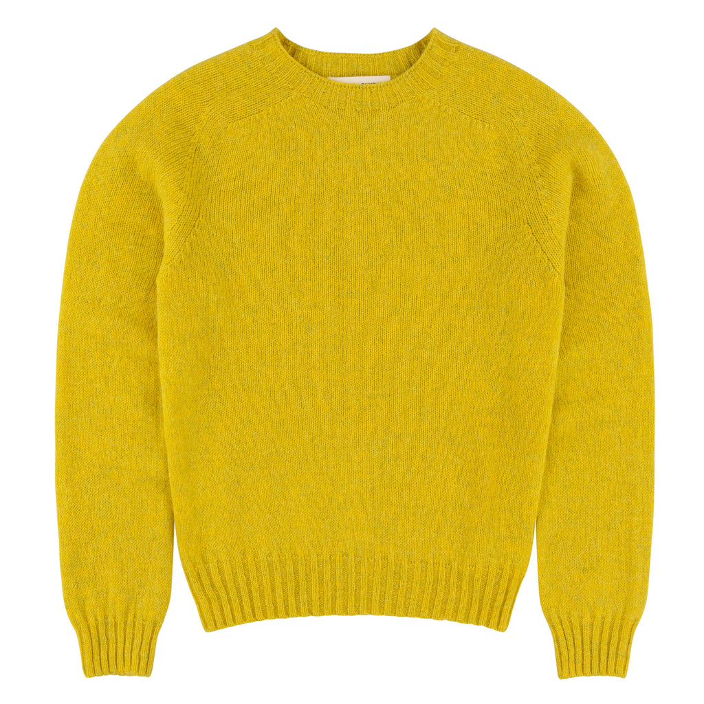 Carrier Company Shetland Lambswool Jumper in Acid Yellow