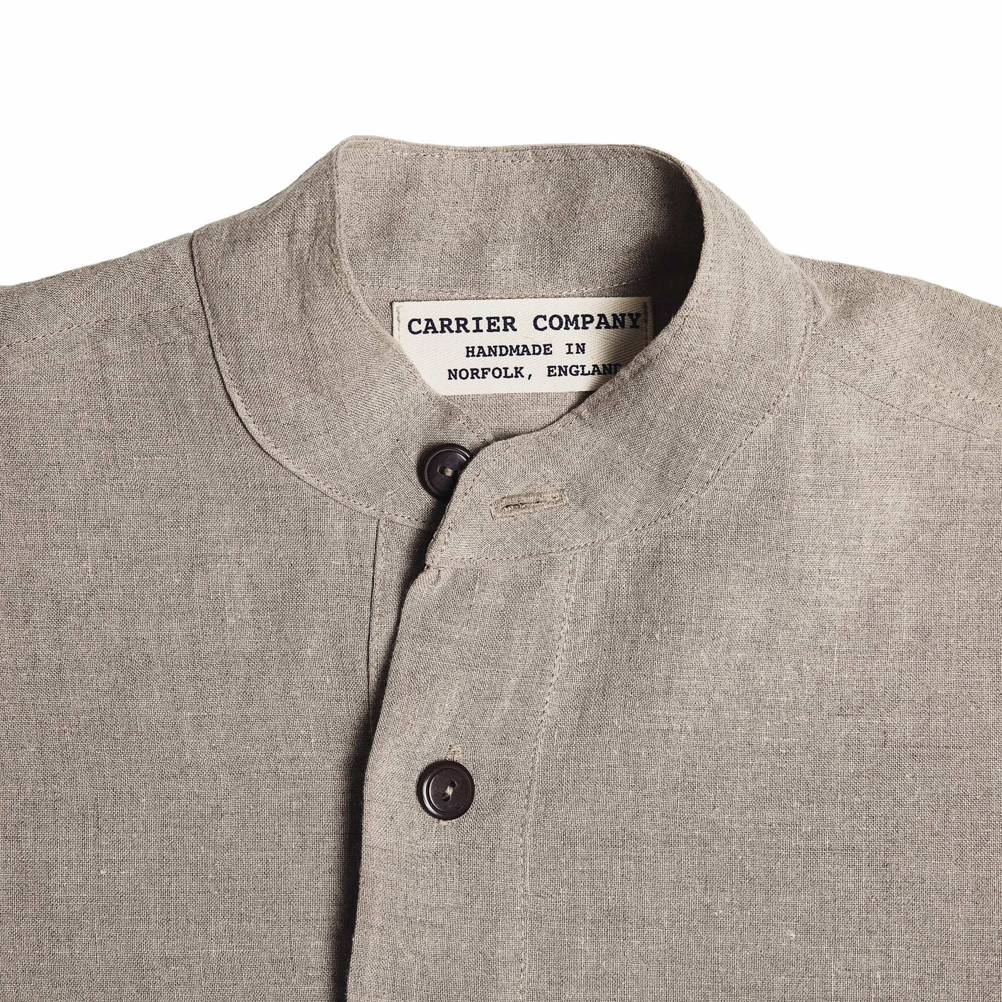 Collarless Irish Linen Shirts
