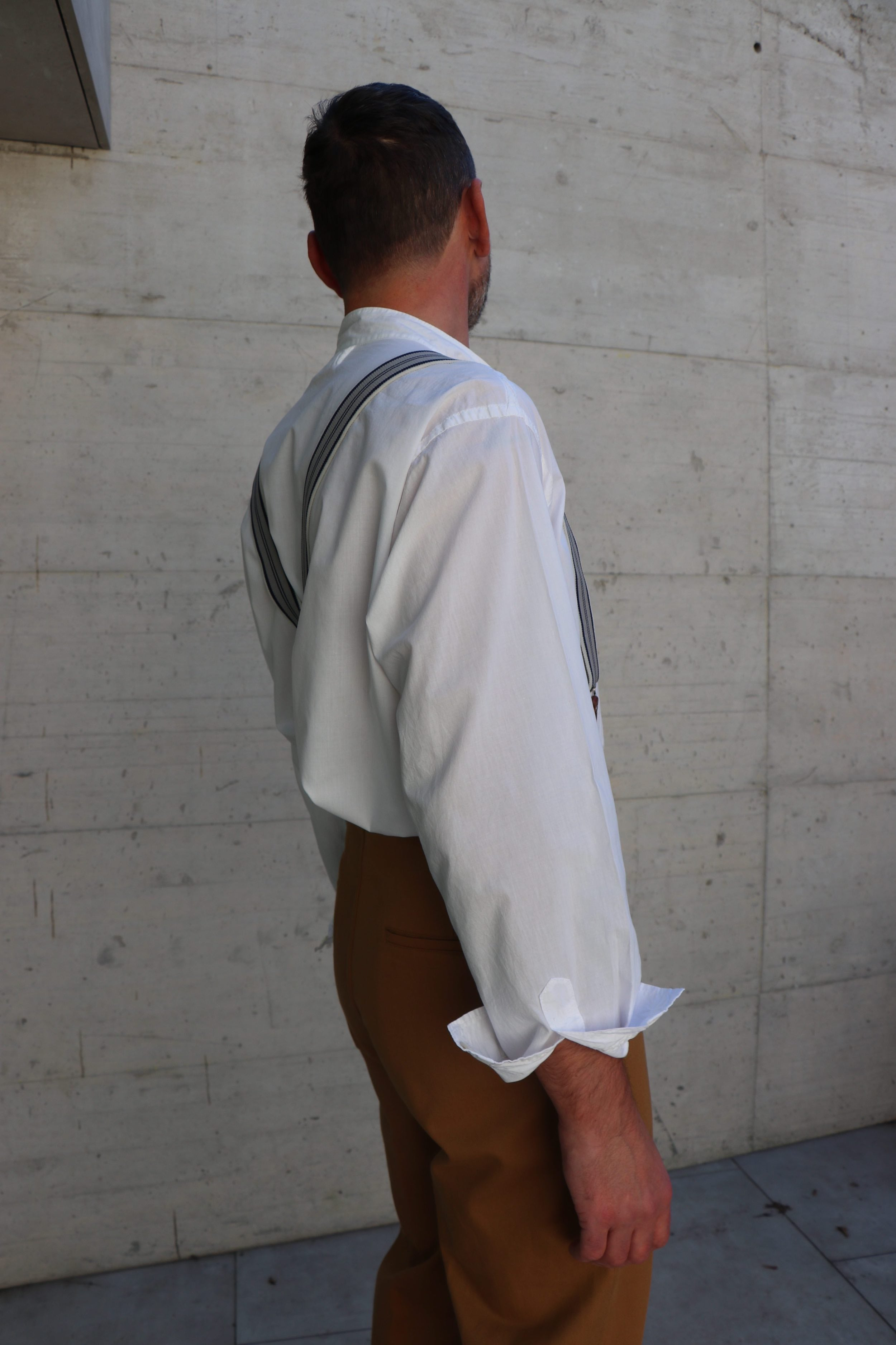 Lightweight Collarless Shirt
