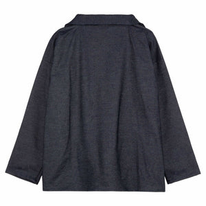 Denim  V Neck Smock
