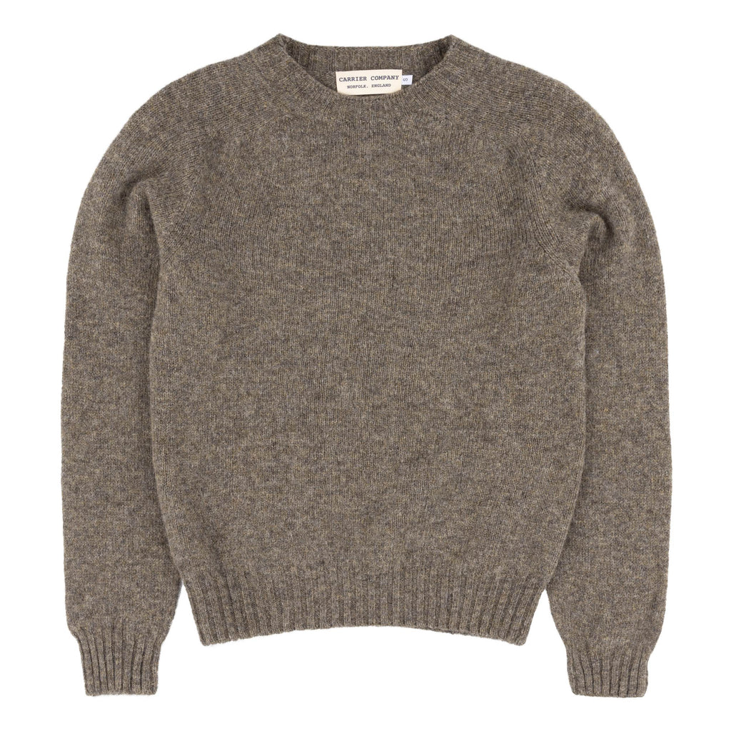 Carrier Company Shetland Lambswool Jumper in Oyster