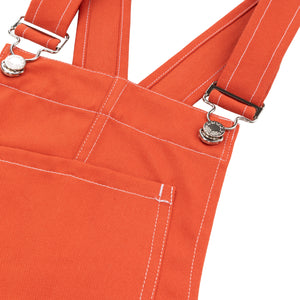 Women's Dungarees in Orange