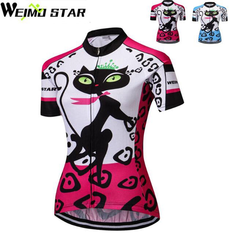 983fa2482 Black Cats Cycling Short Sleeve Bike Shirt by Weimostar – Cats By Kitty