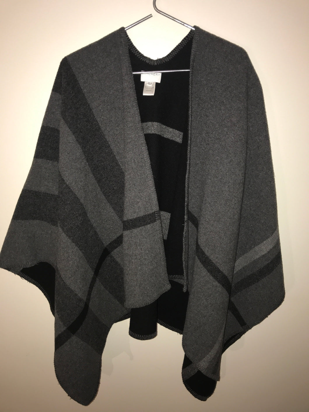 Witchery Black/grey wool blend poncho Size One Size fits all