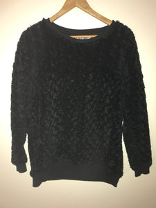 Rivers black shiny jumper Size 12