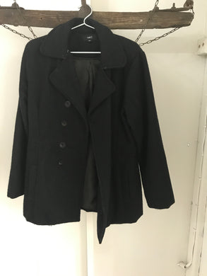 Rue21 black double breasted winter coat Size M (estimated 10-12)