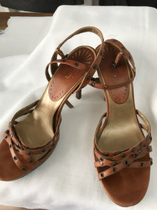 Jag tan strappy heels Size 9