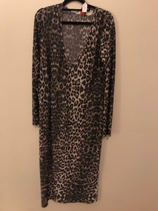 Leona Ruby collection leopard print 3/4 length long sleeve Size 3 (estimated 14$