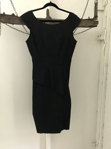 Sheike black corporate dress with front flap Size 10