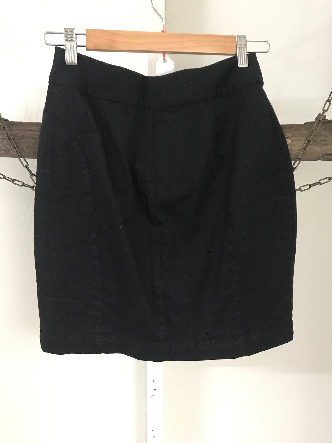 Blue Juice Black Zip Skirt Size 8