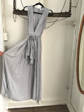 Runaway  Grey/Skirt Jumpsuit Size 8