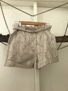 Forever New beige shimmer print dress shorts Size 8