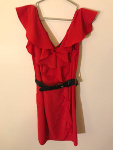 Wayne by Wayne Cooper red dress with black belt Size 10