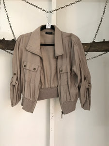 Crossroads Beige Short Jacket Size 12