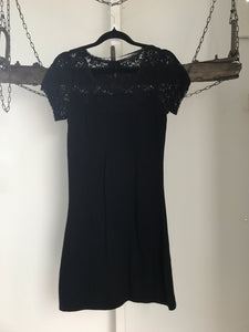 Tokito Black Knit Lace Dress Size 10