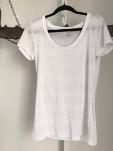 Banana republic White Sparkle Top Size S (8-10)