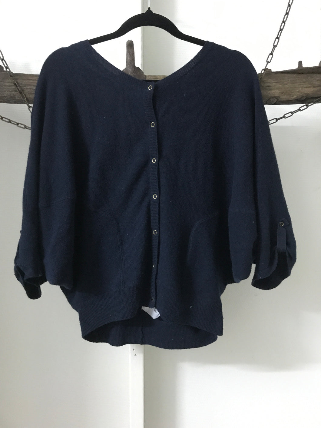 Country Road Navy Batwing Cardi Size S