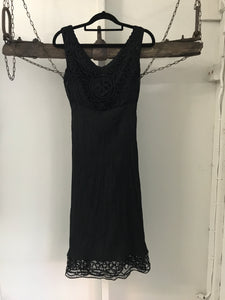 JacquiE black dress with lace trims Size 6