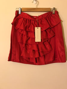 Decjuba red ruffle skirt NWT Size 10
