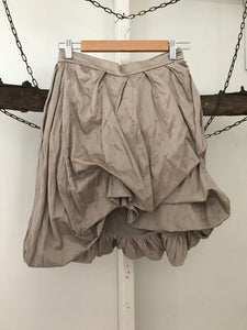 Wayne Cooper shimmer gold/ beige uneven puffy skirt Size 1 estimated 6-8)