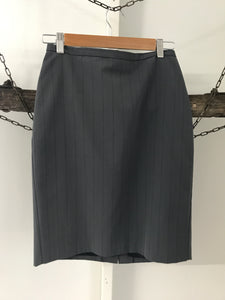 Portmans grey with black pinstripes Work skirt Size 8